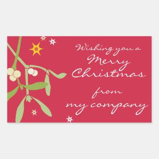 Etiquetas del regalo del negocio de las Felices Pegatina Rectangular