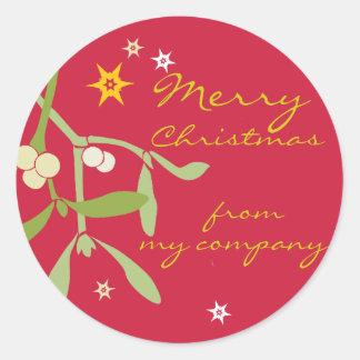 Etiquetas del regalo del negocio de las Felices Pegatina Redonda