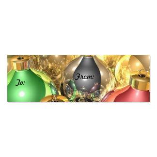 Etiquetas del regalo del ornamento del navidad tarjetas de visita mini