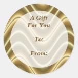 etiquetas del regalo del oro