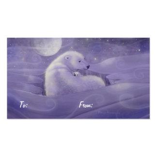 Etiquetas del regalo del oso polar del navidad tarjeta de negocio