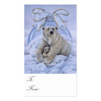 Etiquetas del regalo del oso polar tarjetas de visita