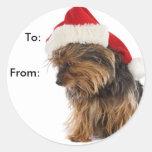 Etiquetas del regalo del perrito de Yorkie