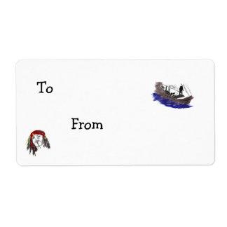 Etiquetas del regalo del pirata etiqueta de envío