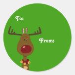 Etiquetas del regalo del reno