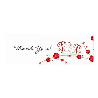 Etiquetas del regalo, Lovebirds, gracias Tarjeta De Visita