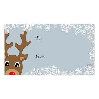 Etiquetas del regalo tarjetas de visita