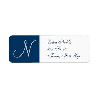 Etiquetas del remite con el monograma para los bod etiqueta de remitente