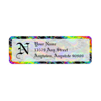 Etiquetas del remite de Avery del monograma del fr Etiquetas De Remite