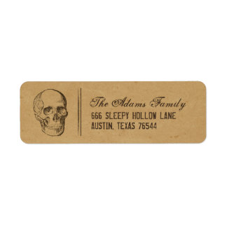 Etiquetas del remite de Halloween del cráneo del Etiqueta De Remite