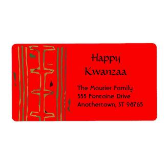 Etiquetas del remite de Kwanzaa Etiqueta De Envío