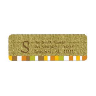 Etiquetas del remite de la acción de gracias/de la etiqueta de remite