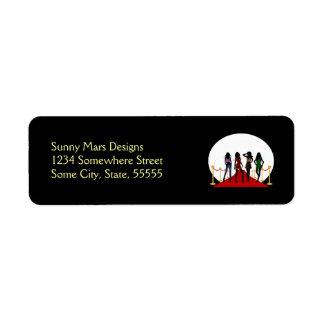 Etiquetas del remite de la alfombra roja de los etiqueta de remite