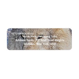 Etiquetas del remite de la fauna del LOBO GRIS Etiquetas De Remite