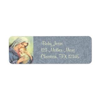 Etiquetas del remite de la fe de Jesús del bebé de Etiqueta De Remite