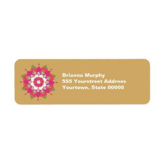 Etiquetas del remite de la flor de Lotus Etiqueta De Remite