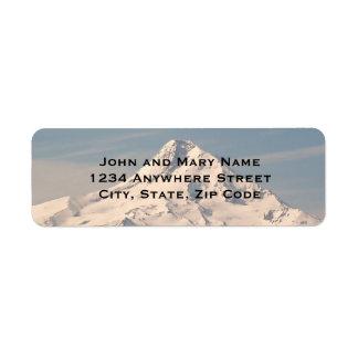 Etiquetas del remite de la foto de la cumbre de la etiqueta de remite
