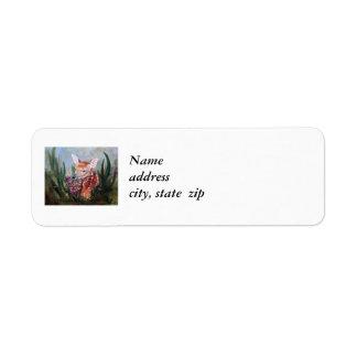Etiquetas del remite de la inocencia del cervatill etiqueta de remite