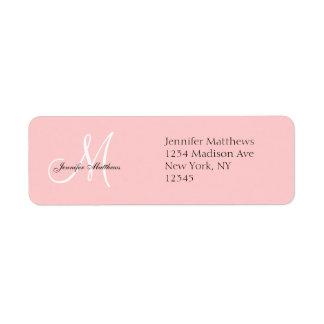 Etiquetas del remite de la invitación del boda del etiqueta de remitente