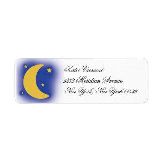 Etiquetas del remite de la luna y de las estrellas etiqueta de remitente
