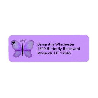 Etiquetas del remite de la mariposa etiqueta de remitente