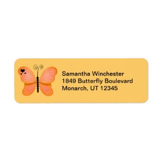 Etiquetas del remite de la mariposa etiquetas de remite