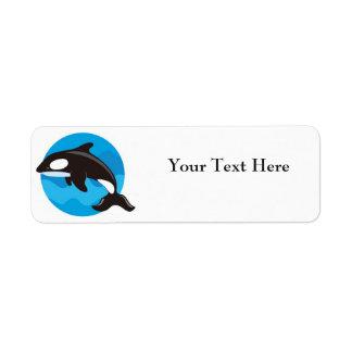 Etiquetas del remite de la orca etiqueta de remite