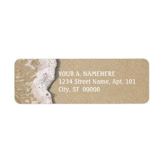 Etiquetas del remite de la orilla de la playa etiqueta de remitente