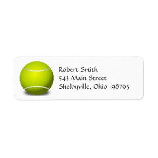 Etiquetas del remite de la pelota de tenis etiquetas de remite
