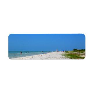 Etiquetas del remite de la playa de Sanibel Etiqueta De Remitente