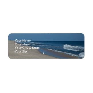 Etiquetas del remite de la playa y del océano etiqueta de remite