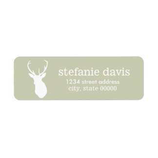 Etiquetas del remite de la silueta de los ciervos etiquetas de remite