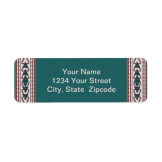 Etiquetas del remite de la tapicería del sudoeste etiqueta de remite