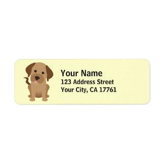 Etiquetas del remite de Labrador del chocolate Etiqueta De Remitente