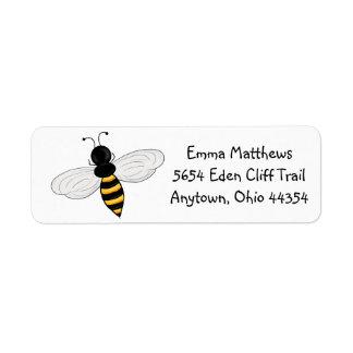 Etiquetas del remite de las abejas de Buzzzing Etiqueta De Remite