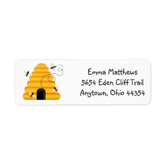Etiquetas del remite de las abejas de Buzzzing Etiquetas De Remite