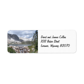 Etiquetas del remite de las montañas de Marie del  Etiqueta De Remite