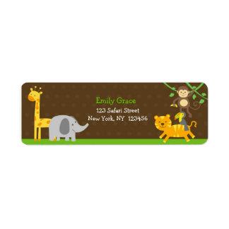 Etiquetas del remite de los animales del parque zo etiqueta de remite