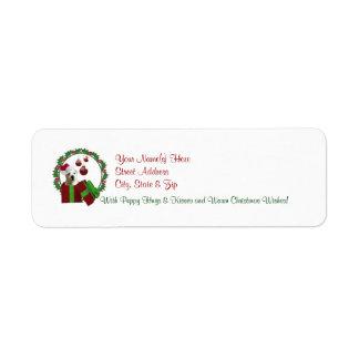 Etiquetas del remite de los deseos del navidad de  etiqueta de remite