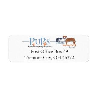 Etiquetas del remite de los perritos etiquetas de remite