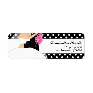Etiquetas del remite de novia y del novio etiqueta de remite