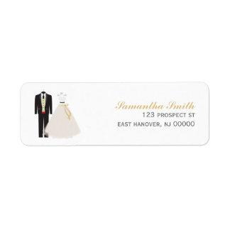 Etiquetas del remite de novia y del novio etiquetas de remite