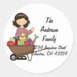 Etiquetas del remite de señora Gardener Gardening