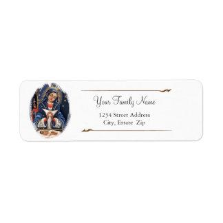 Etiquetas del remite de Virgen de la Altagracia Etiqueta De Remitente