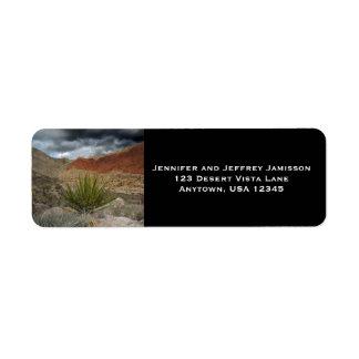 Etiquetas del remite de Vista del desierto Etiquetas De Remite