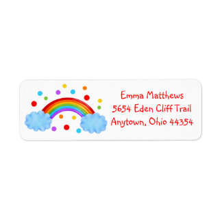 Etiquetas del remite del arco iris etiqueta de remite