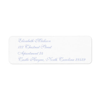 Etiquetas del remite del azul 2 de Wedgewood Etiqueta De Remitente