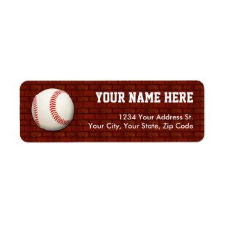 Etiquetas del remite del béisbol etiqueta de remite