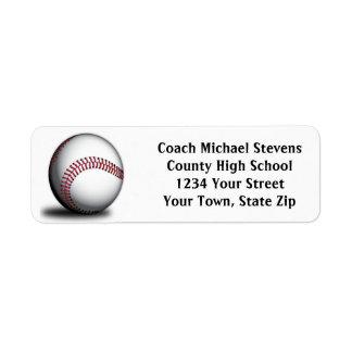 Etiquetas del remite del béisbol etiquetas de remite