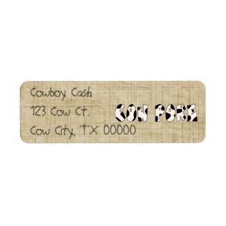 Etiquetas del remite del Cowpoke de la diversión d Etiquetas De Remite